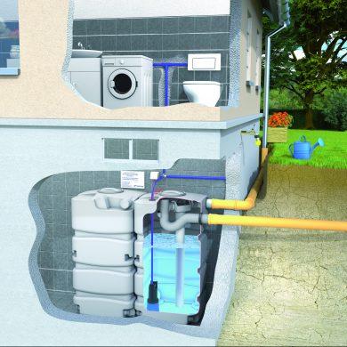 Regenwassernutzung mit Kellertank