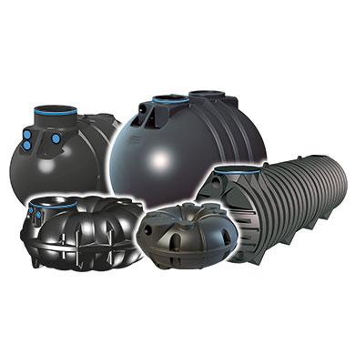 Regenwassertank verschiedene Modelle