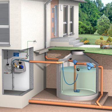 Zisternenfilter in Regenwassertank